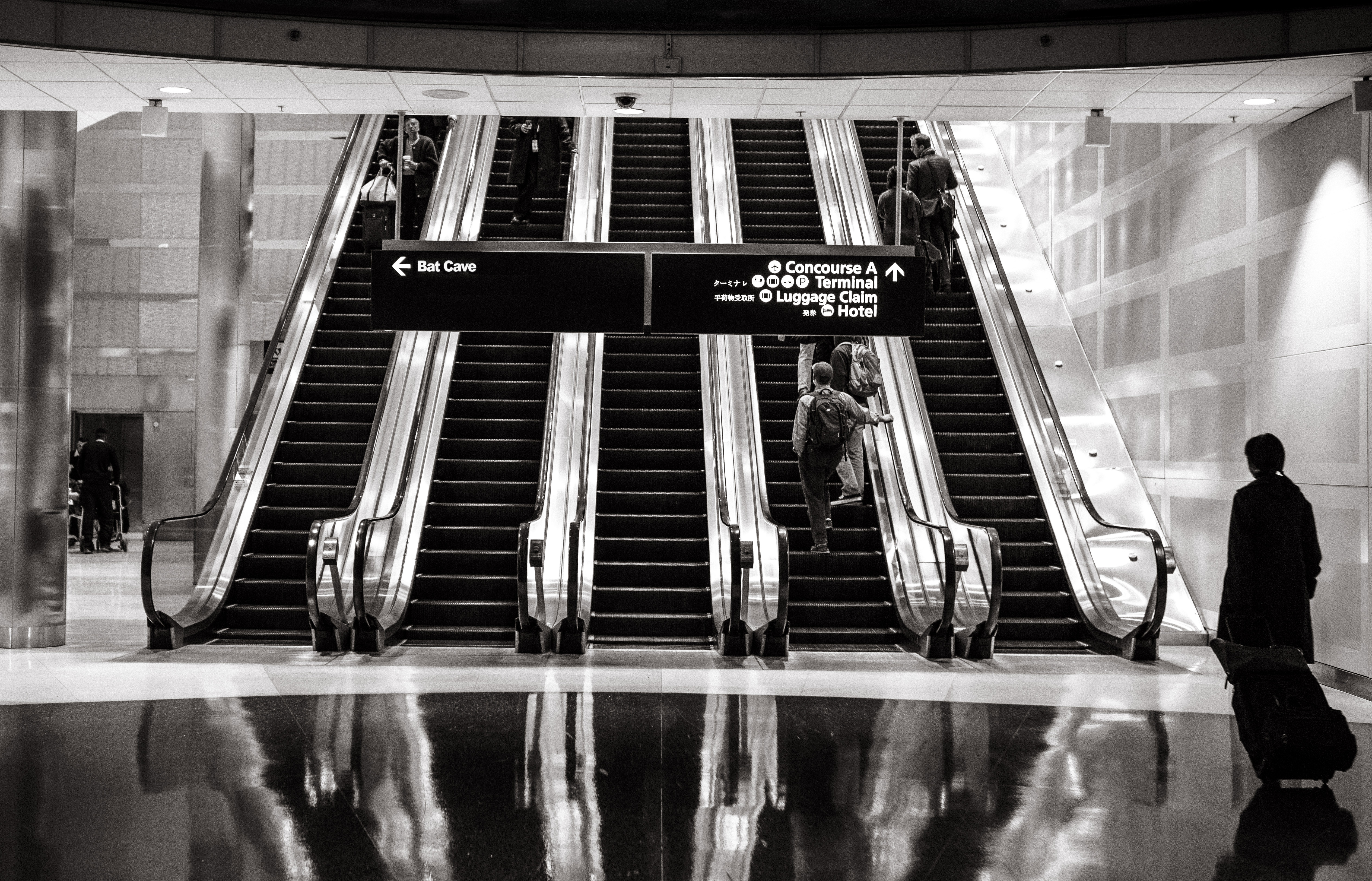 monter les escalators