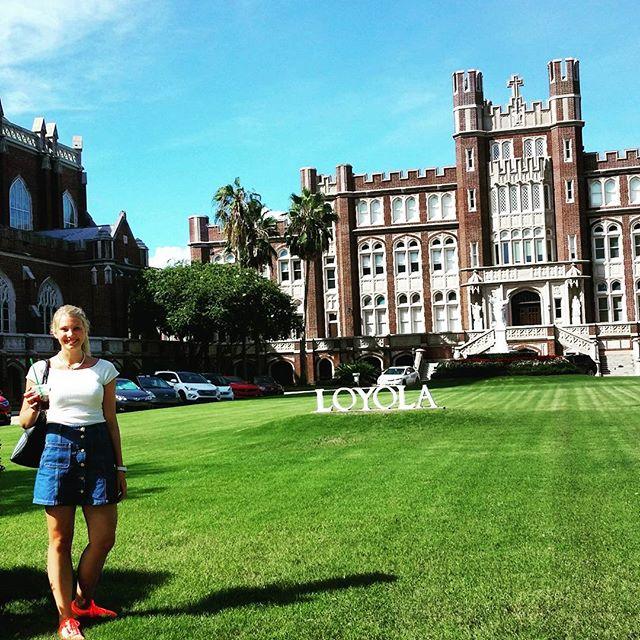 Girl infront of University