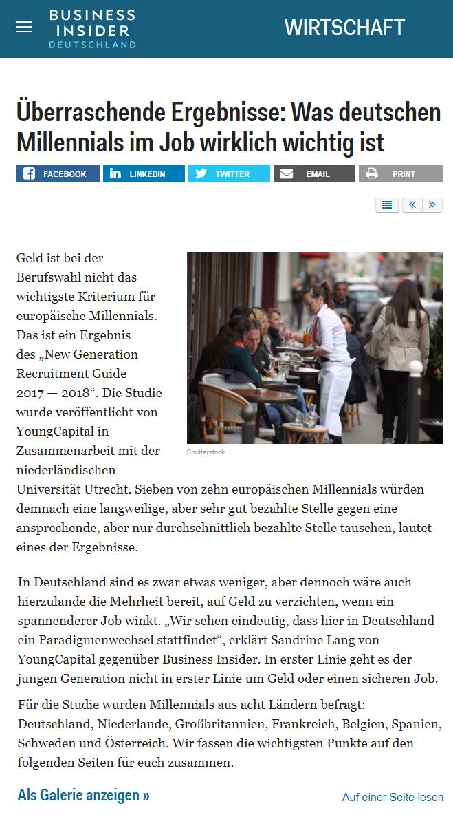 Was deutschen Millennials im Job wirklich wichtig ist