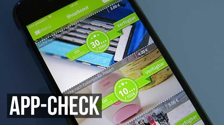 app check shopscout nebenjob zentrale. Black Bedroom Furniture Sets. Home Design Ideas