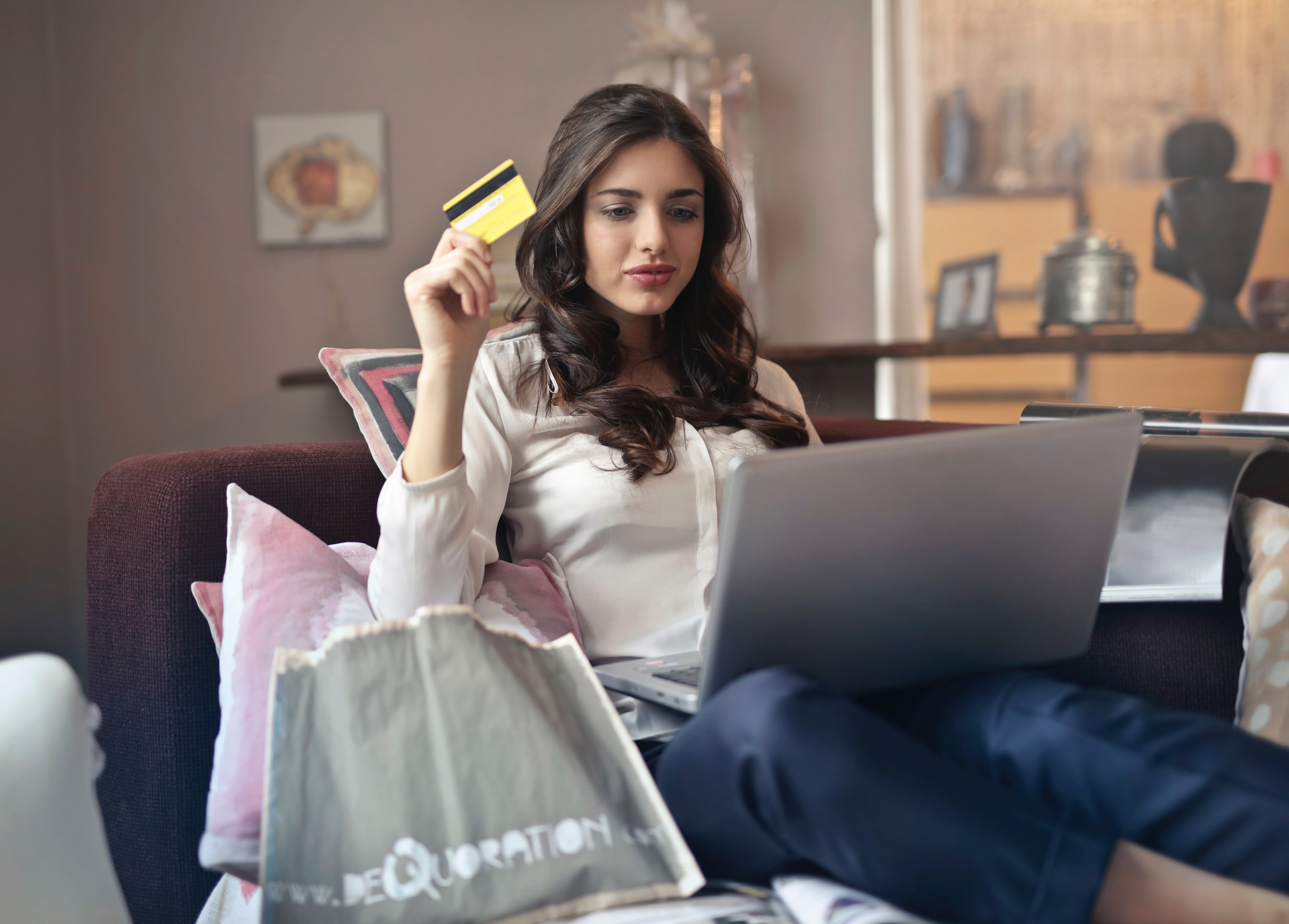 Girl spending money