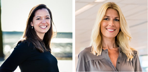 Deelnemer Annemarie Sterk en CEO Ineke Kooistraclass Nudge 2015