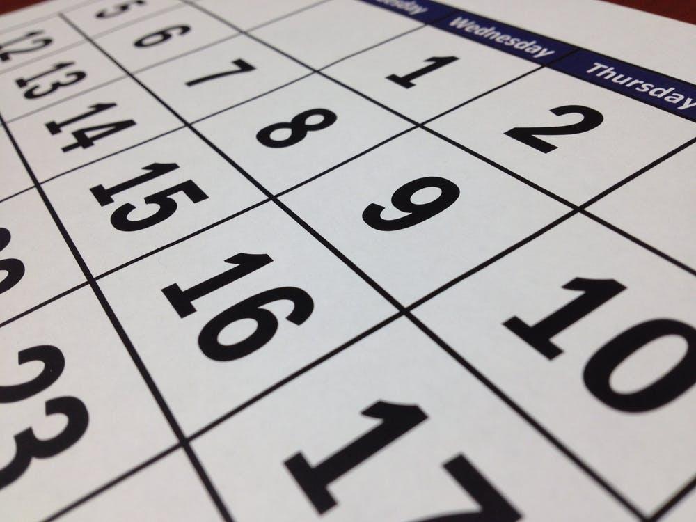 calendario trabajo
