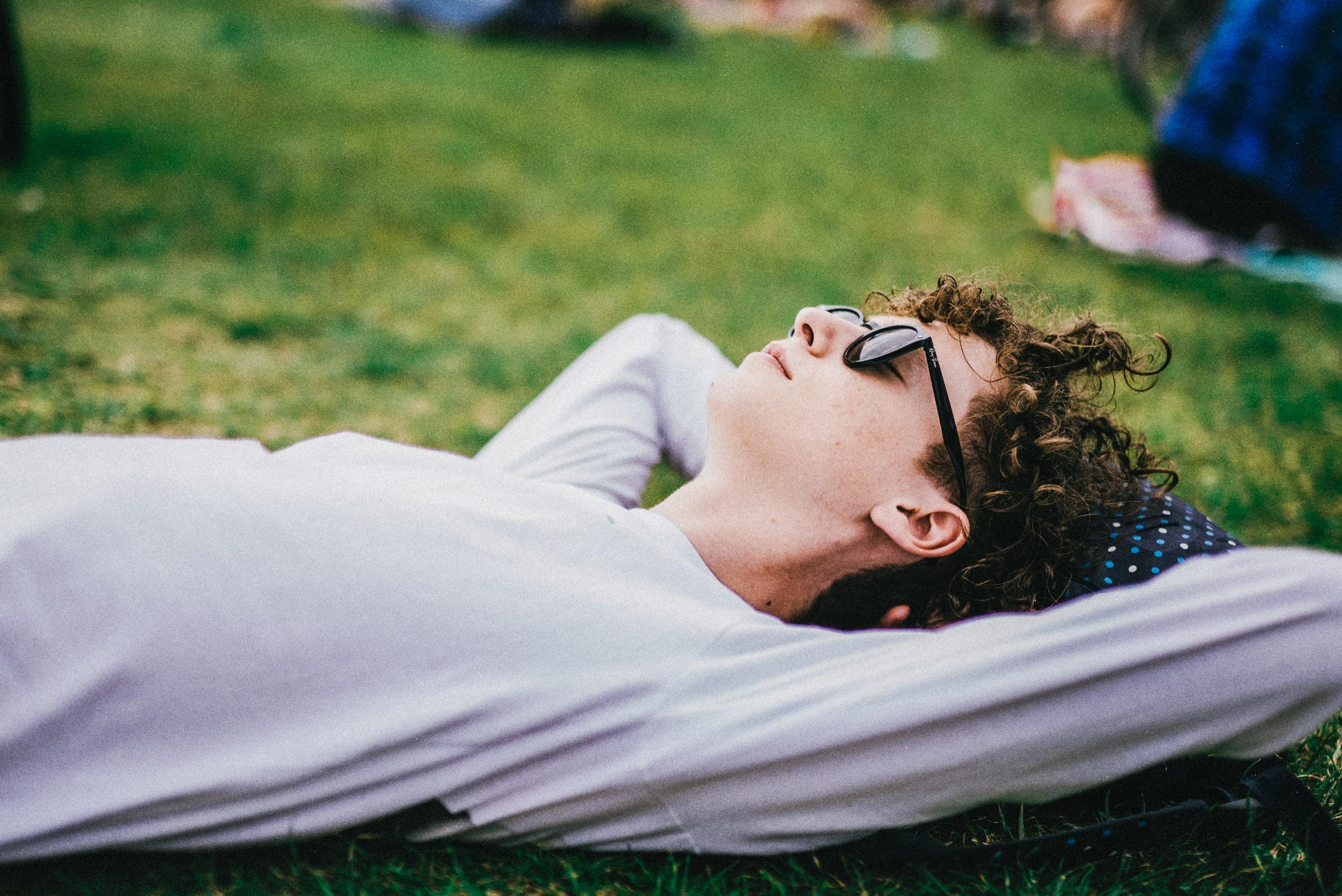 Guy in grass