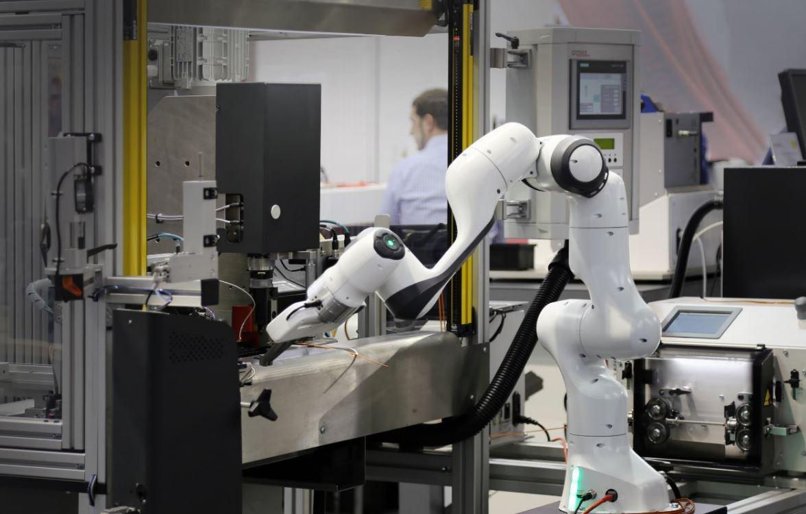 Roboter beim Arbeiten