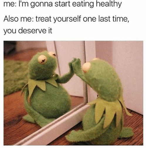 Meme über gesundes Essen