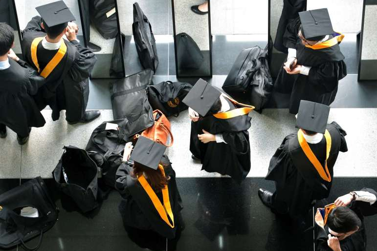 Students graduating