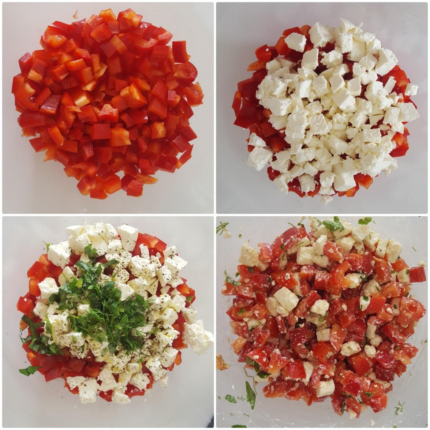 Paprika Feta Salat