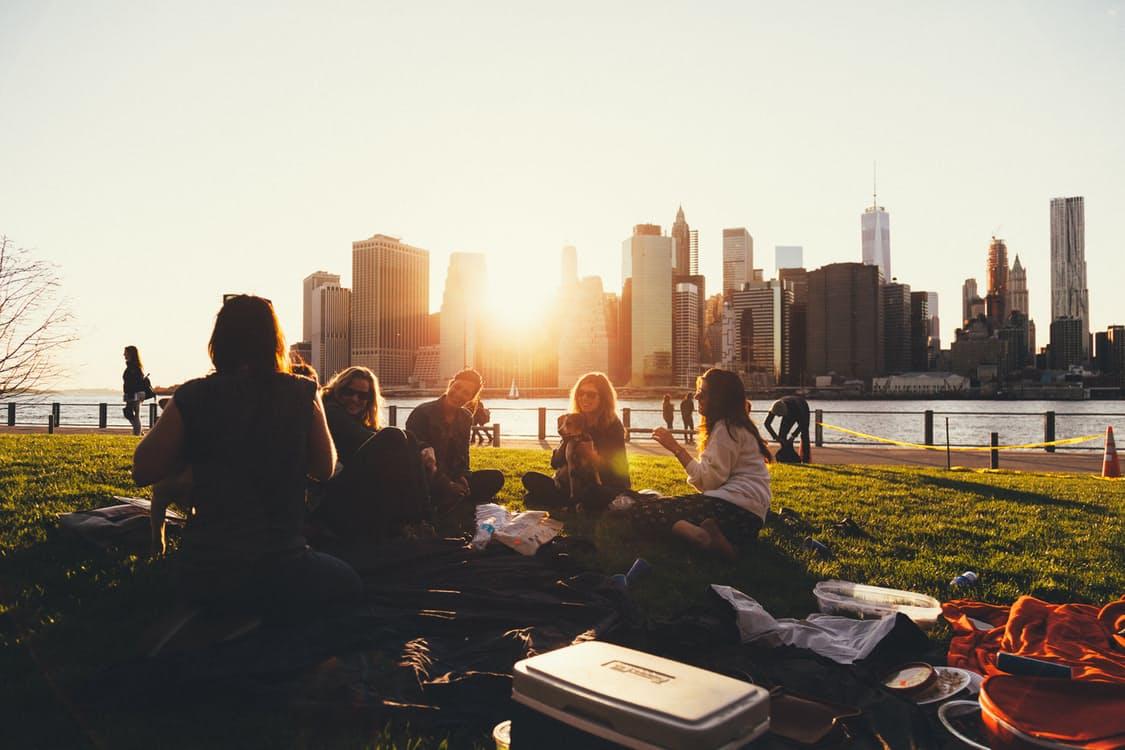 picnic en el cesped
