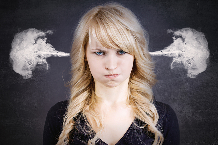 woman angry