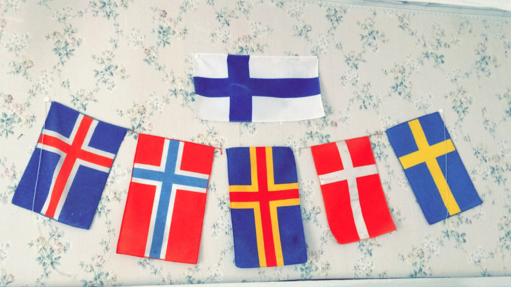 De nordiska flaggorna