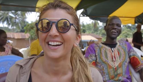 winnaars tijdens hun reis voor tony's chocolonely,nudge 2014