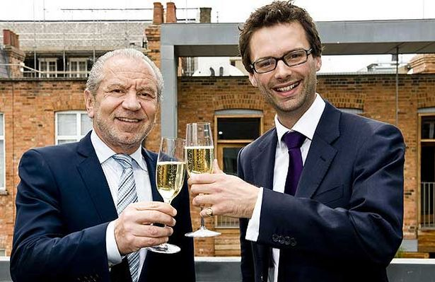 Alan Sugar and Tom Pellereau